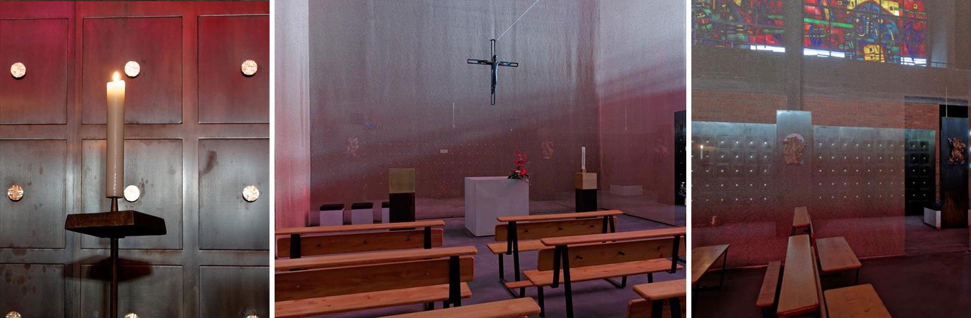 Grabeskirche St. Bartholomäus Köln, Detailansichten Innenraum